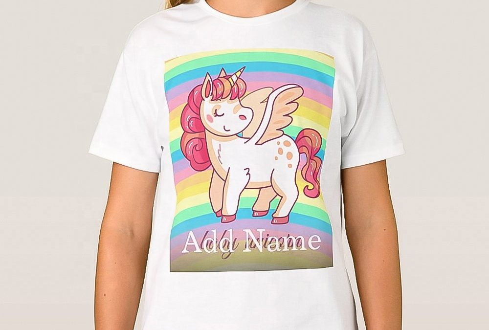 Sublimation Polyester T-Shirt White Sublimation Apparel for Kids