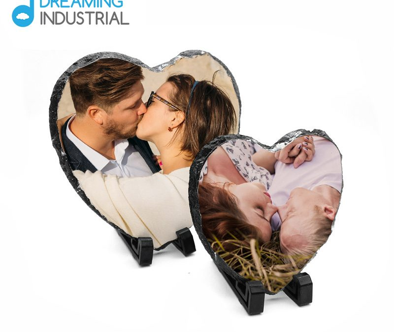 Sublimation Heart Shape Photo Slate for Valentine's Day Gifts